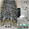 Black DF 3017 D Net Saree with Heavy Embroidery