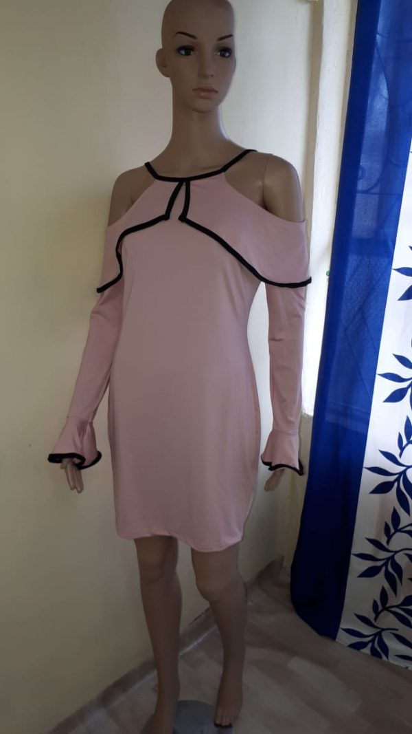 Pink Summer Dress Party Wear 1